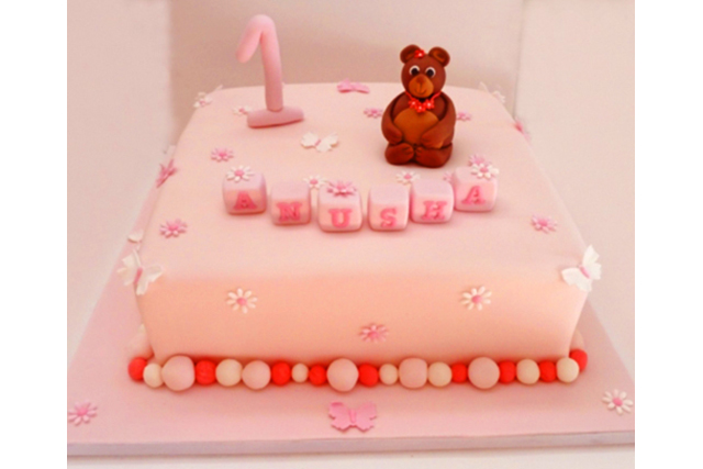 Birthday Cake With Teddy Bear Return To Previous Page Lightbox